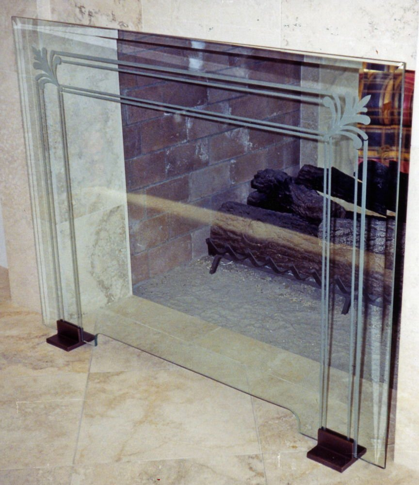 Modern Glass Fireplace Screens Glass Fireplace Screen Charming Fireplace