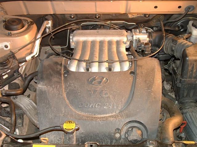 Hyundai Santa Fe Spark Plug replacement on a V6 Cyl