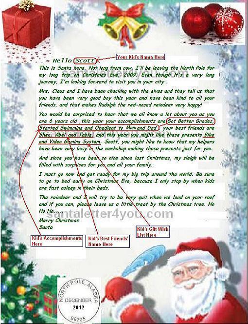 Write  Email Santa Claus, Free Letters from Santa Claus, Free Santa