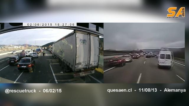 llegada accidente