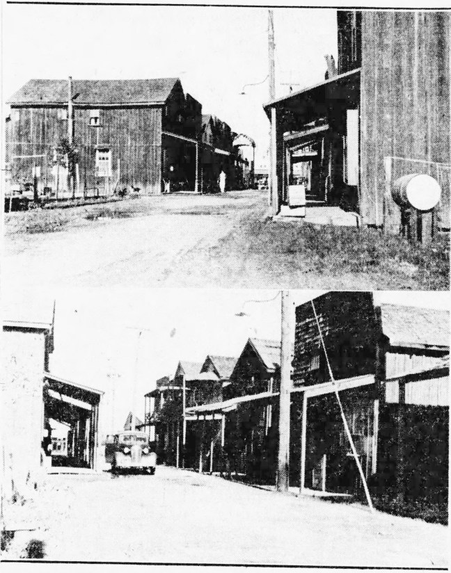 1943 views of Barnes Ave. Chinatown (Press Democrat) The Sonoma County Library History & Genealogical Library has another photo with a partial view of the Wing Yuen Tai Co. store and employment office on the corner of Barnes Ave. in the 1920s.