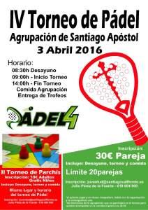 IV Campeonato de Pádel Agrupación de Santiago Apóstol