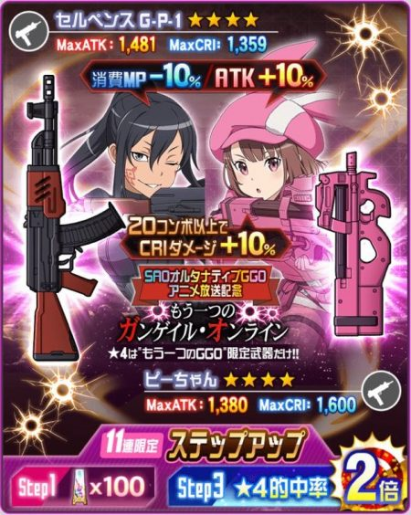 もう一つのガンゲイル・オンライン 武器