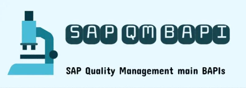 SAP QM BAPI