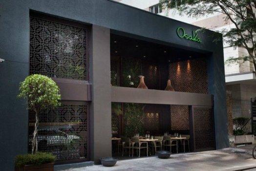 Sapatinho de cristal for Fachadas de restaurantes modernos