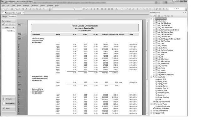 SAP Crystal Reports Application Tutorial - PDF Training Materials