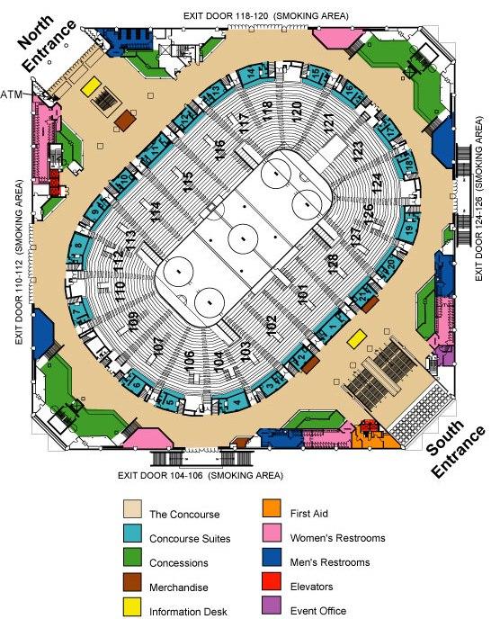 Concourse Map SAP Center