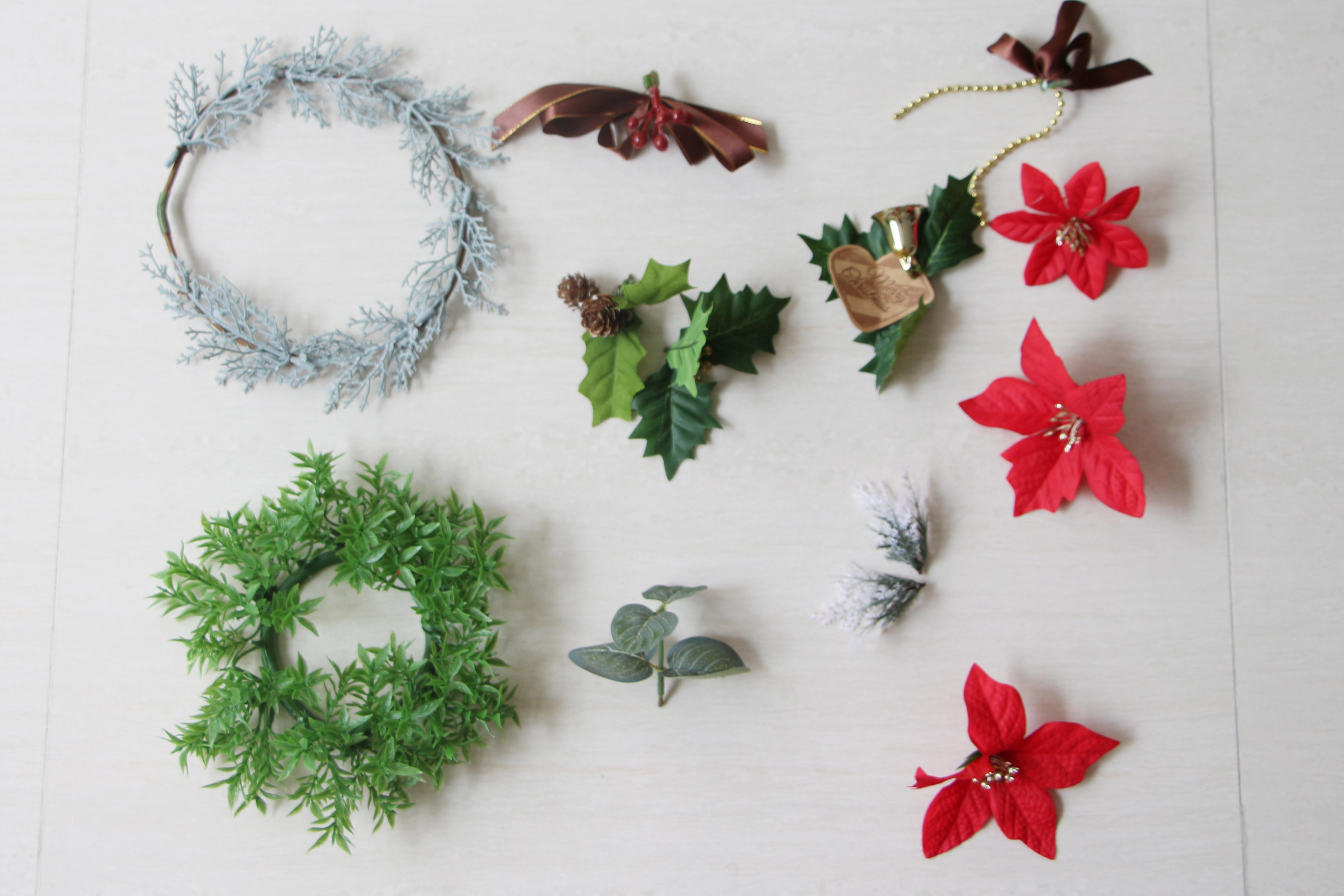 Diy Wreath Supplies Diy Christmas Wreath With Daiso Supplies Sarach And Stefith