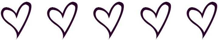 5 hearts
