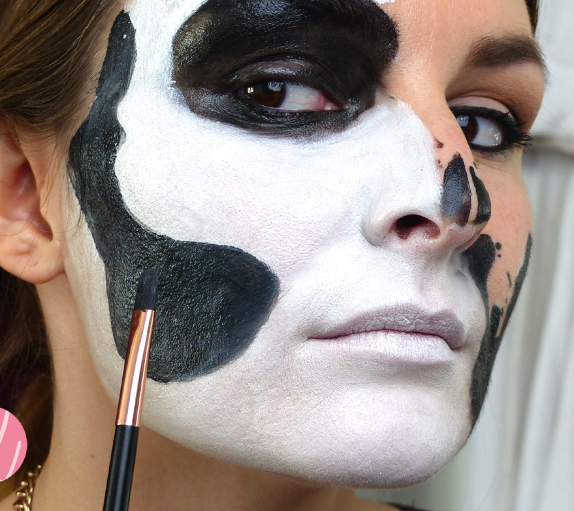 Weiße Schminke Halloween Make Up Tutorial Glam Skull Sarah Belliza