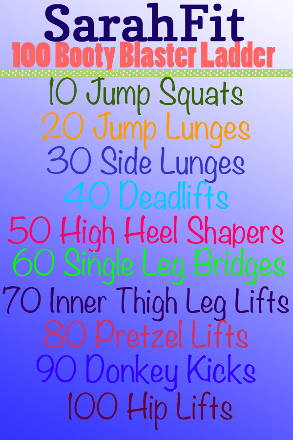Booty Blaster Ladder Workout