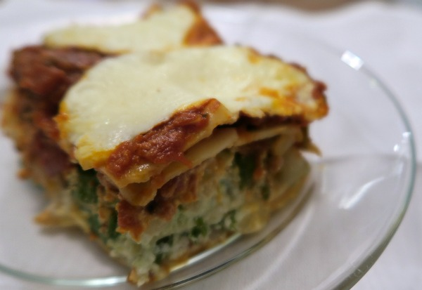 lasagna veggie and sausage