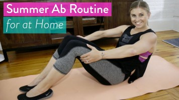 Workout Video: How To Get a Tighter Tummy, 6 minute follow along ab workout