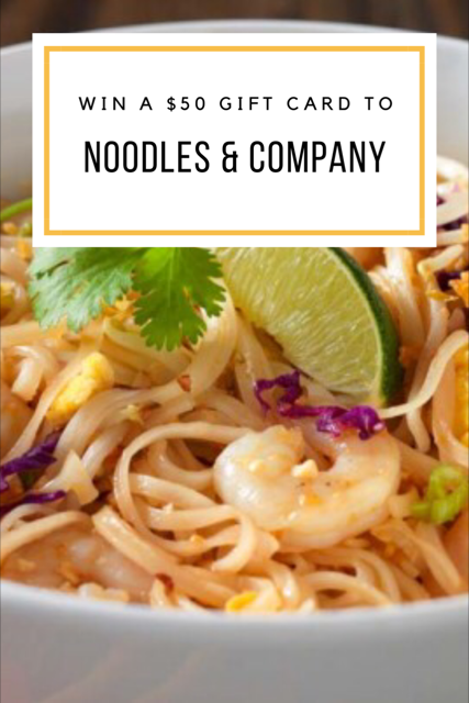 Weeknight Dinners from Noodles & Company