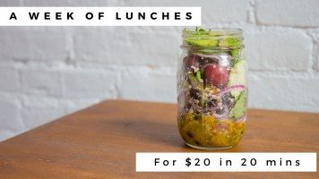 WATCH: Lunch all week for $20 in under 20 minutes