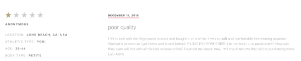 lululemon reviews