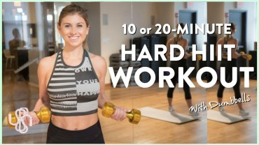 WORKOUT VIDEO: 10 or 20-Minute HIIT Workout with Dumbbells