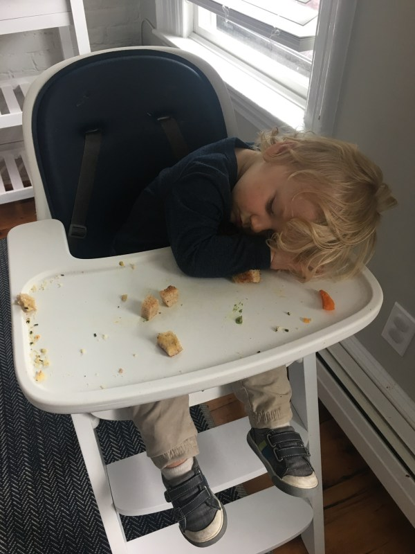 Toddler Sleeping In High Chair