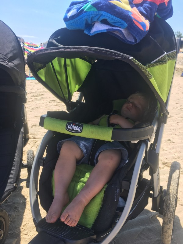 Jogging Stroller on The Beach for Nap