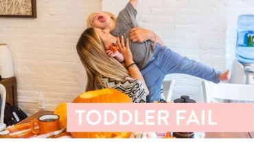 This is what happens when you try to get your toddler to cooperate for a video