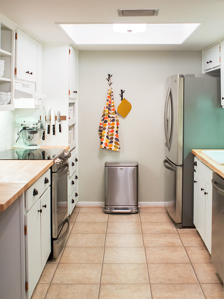 DIY Small Galley Kitchen Remodel - Sarah Hearts - small galley kitchen design