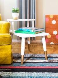 Mid Century Modern Side Table Makeover - Sarah Hearts