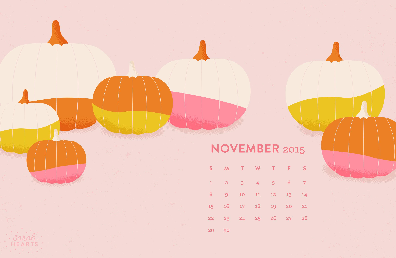Fall Leaves Wallpaper Macbook November 2015 Calendar Wallpaper Sarah Hearts