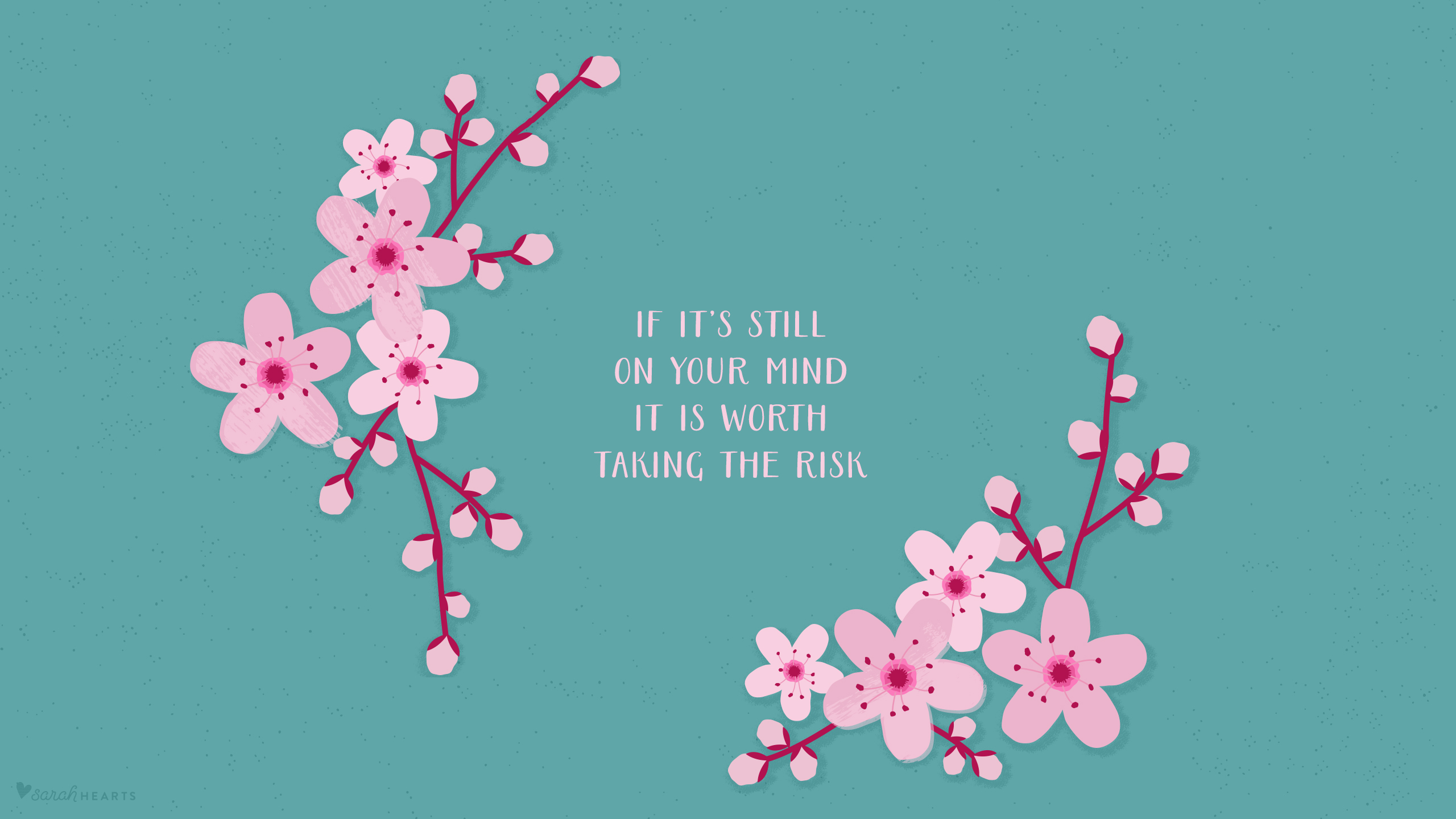 Encouraging Quotes Wallpaper Free Download March 2016 Cherry Blossom Calendar Wallpaper Sarah Hearts
