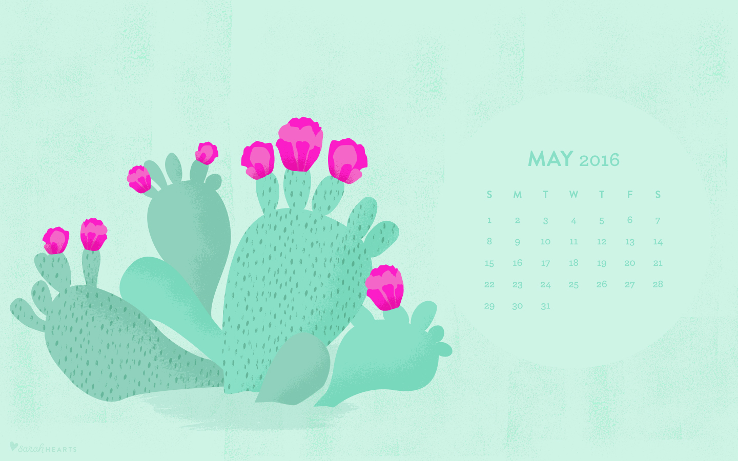 Create Your Own Iphone Wallpaper May 2016 Cactus Calendar Wallpaper Sarah Hearts