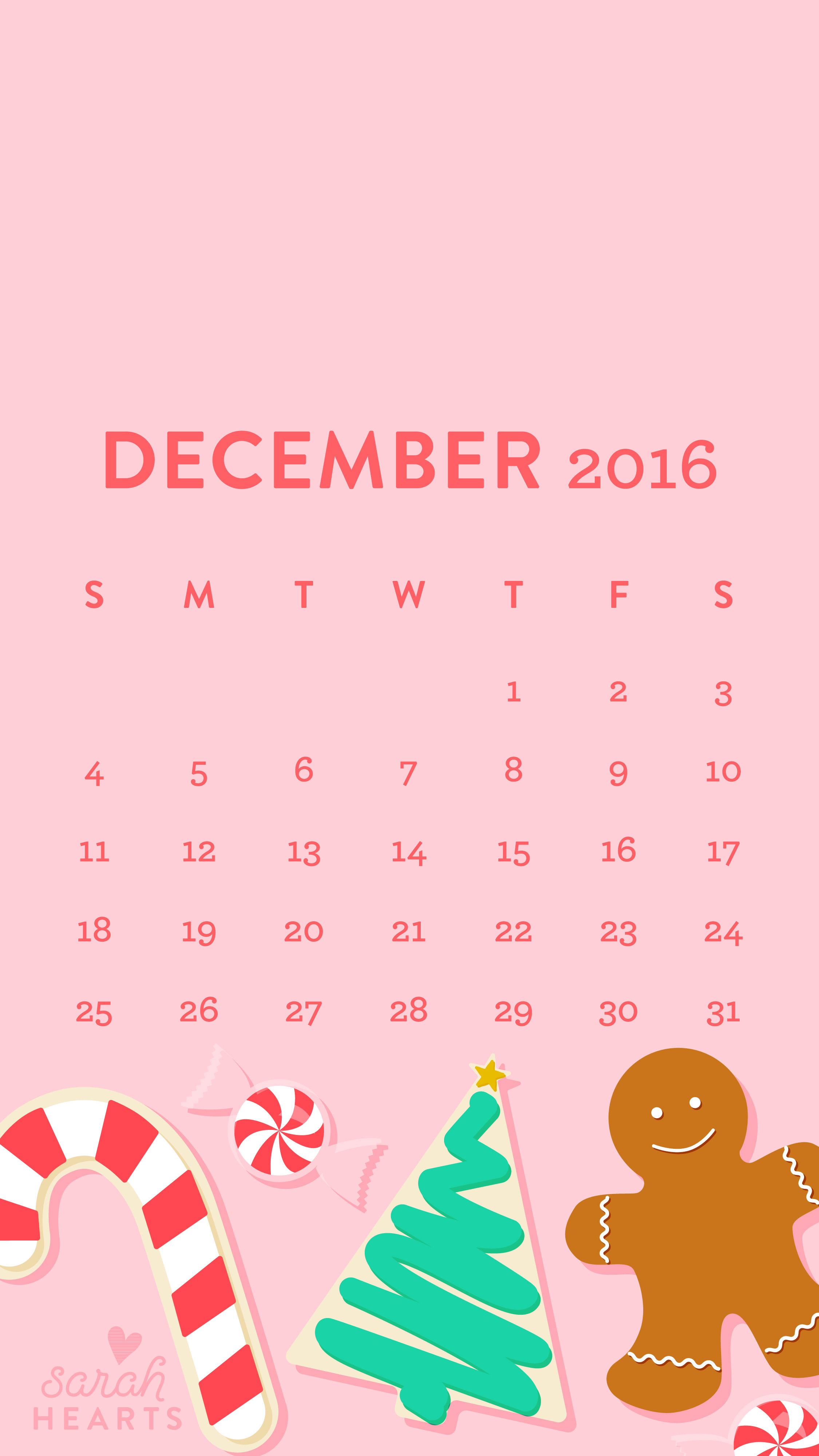 Cute Brand Wallpapers December 2016 Christmas Cookie Calendar Wallpaper Sarah