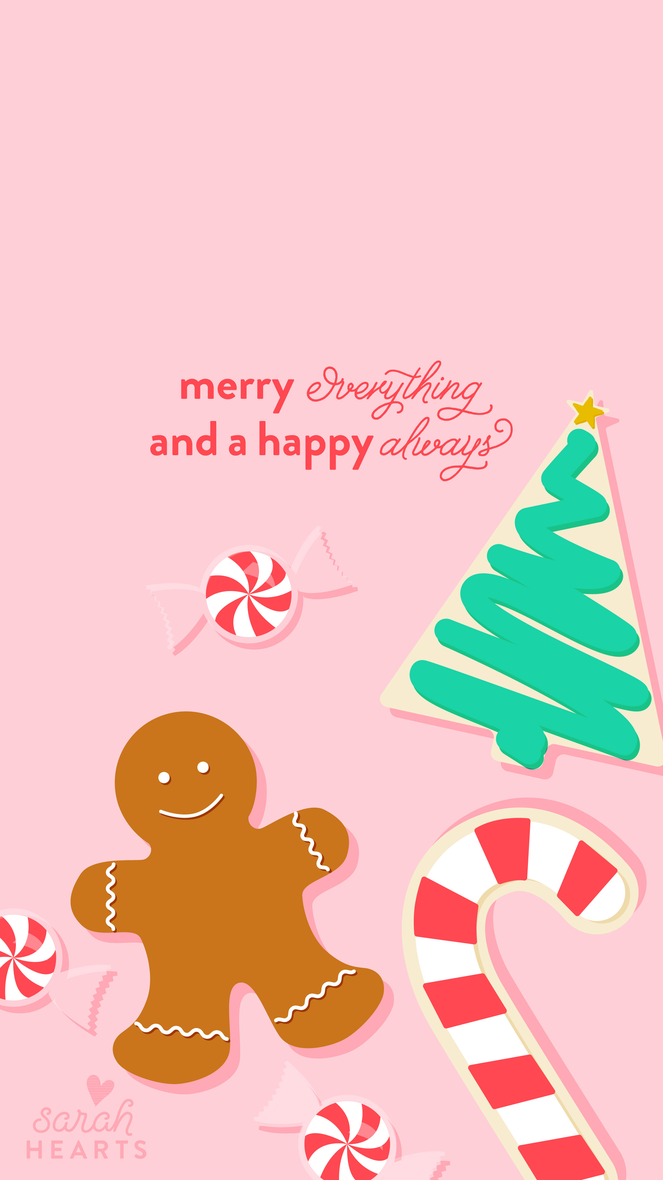 Download Cute Wallpapers For My Phone December 2016 Christmas Cookie Calendar Wallpaper Sarah