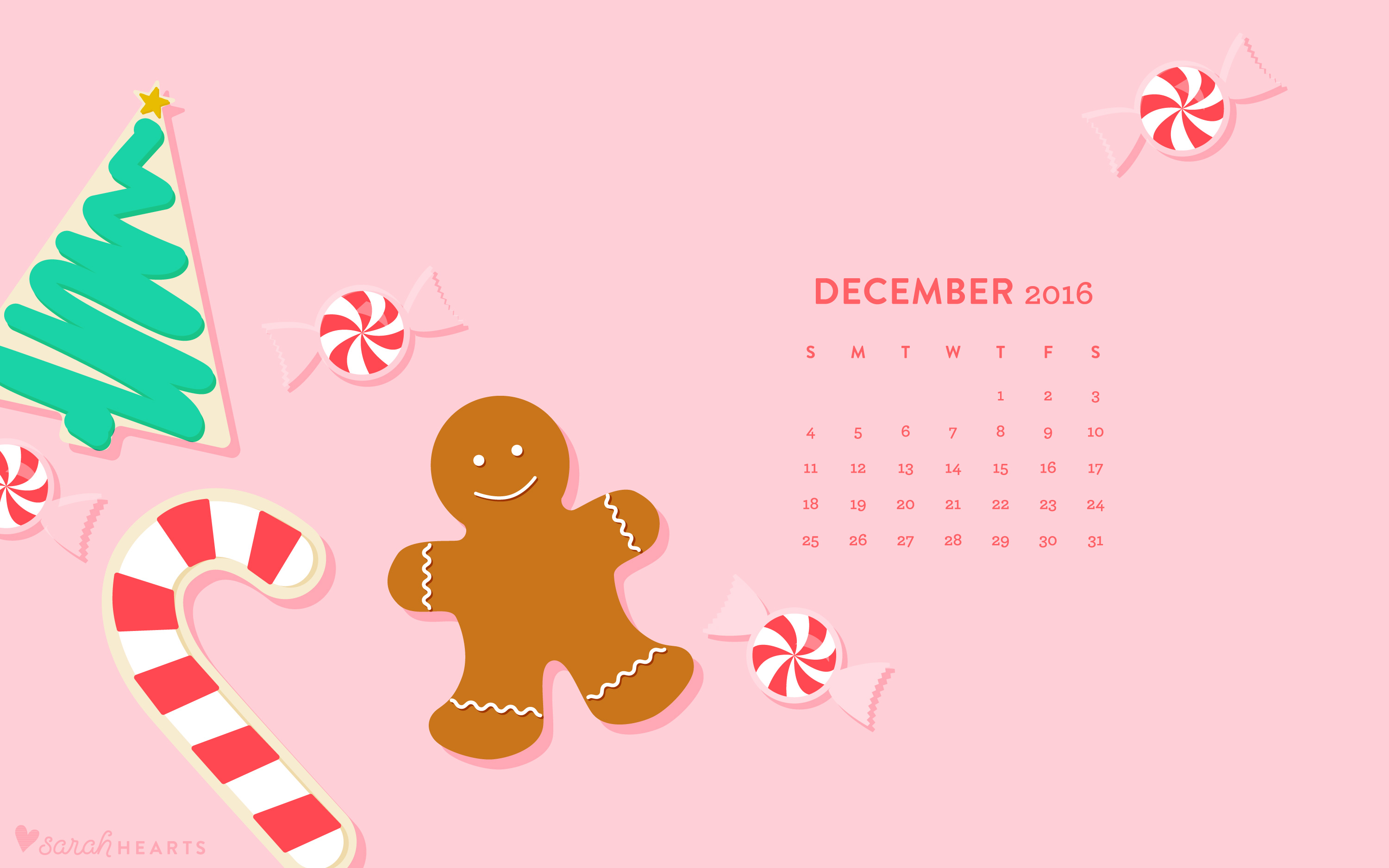 Kate Spade Iphone Wallpaper December 2016 Christmas Cookie Calendar Wallpaper Sarah