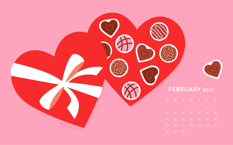 Most Beautiful Iphone Wallpapers Valentines February 2017 Calendar Wallpaper Sarah Hearts
