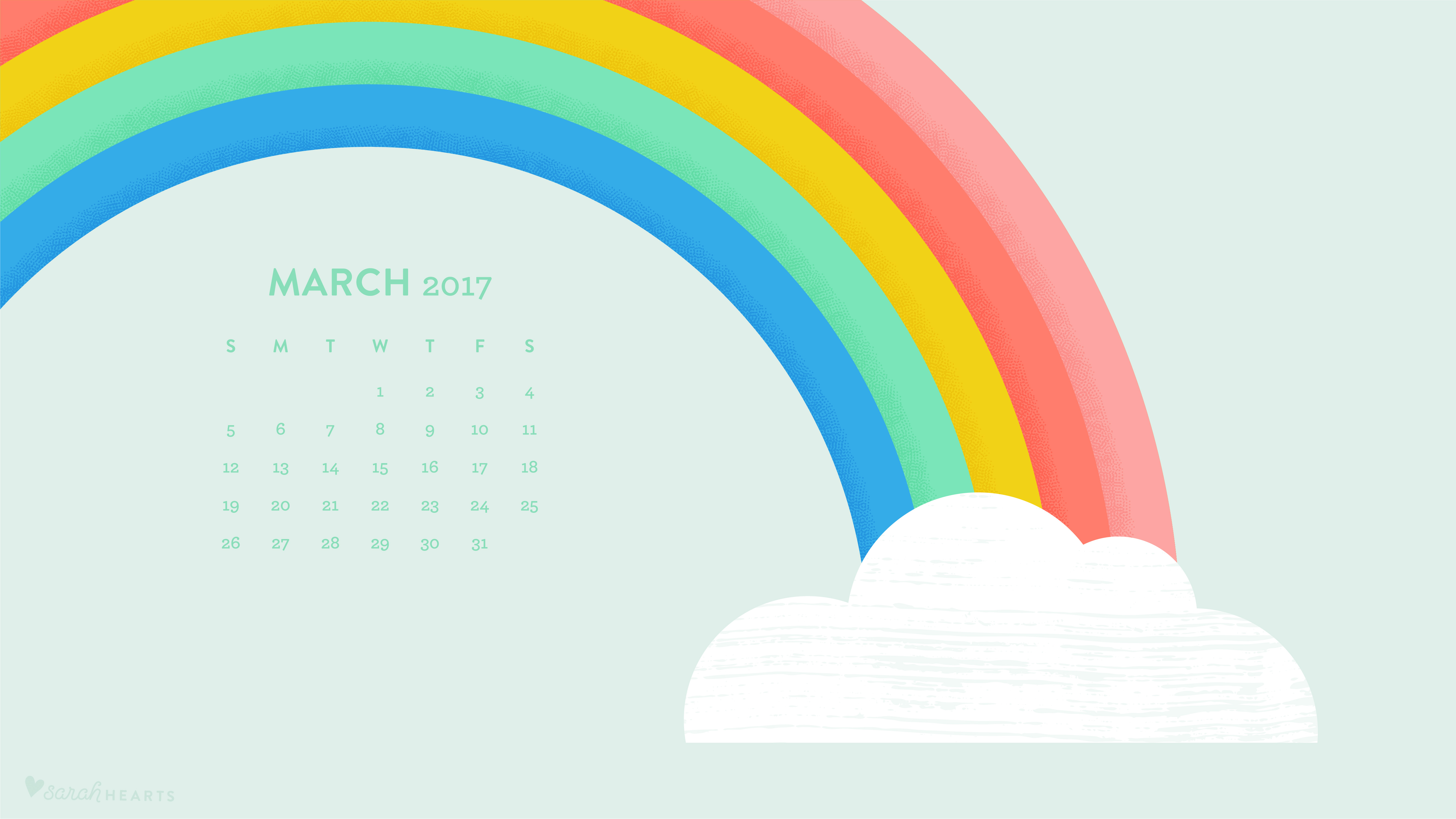Graphic Designer Quote Wallpaper Rainbow March 2017 Calendar Wallpaper Sarah Hearts