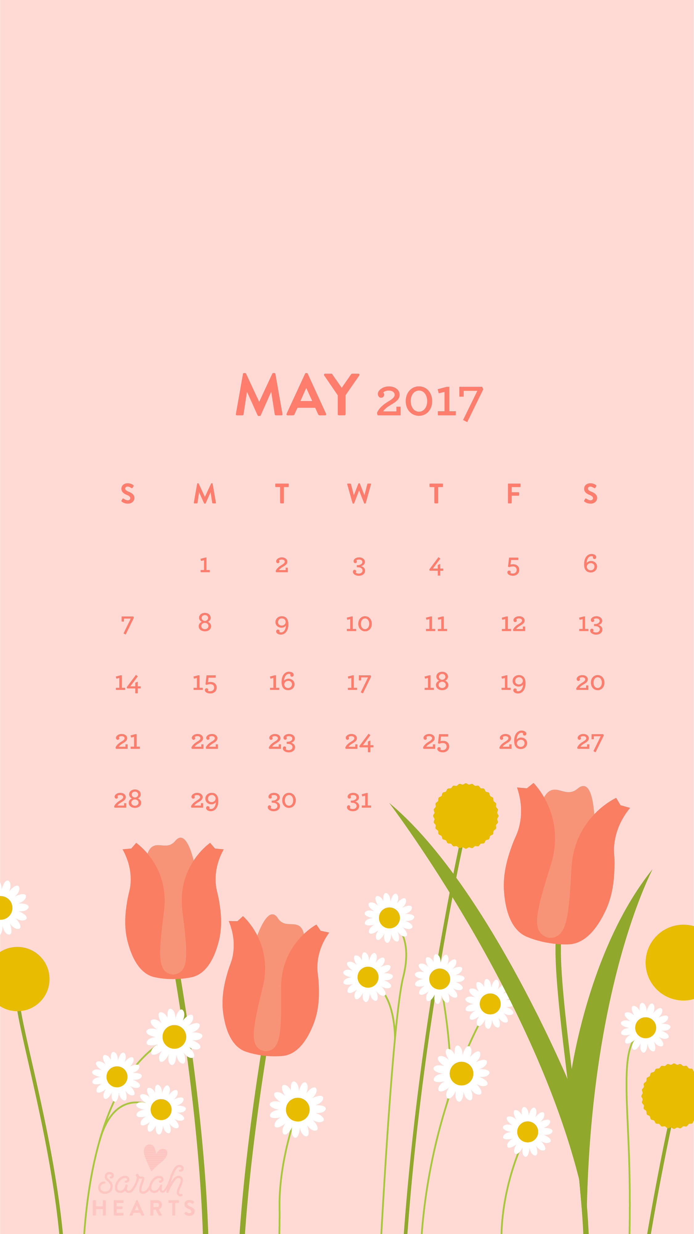 Floral Inspirational Quote Wallpaper May 2017 Calendar Wallpaper Sarah Hearts