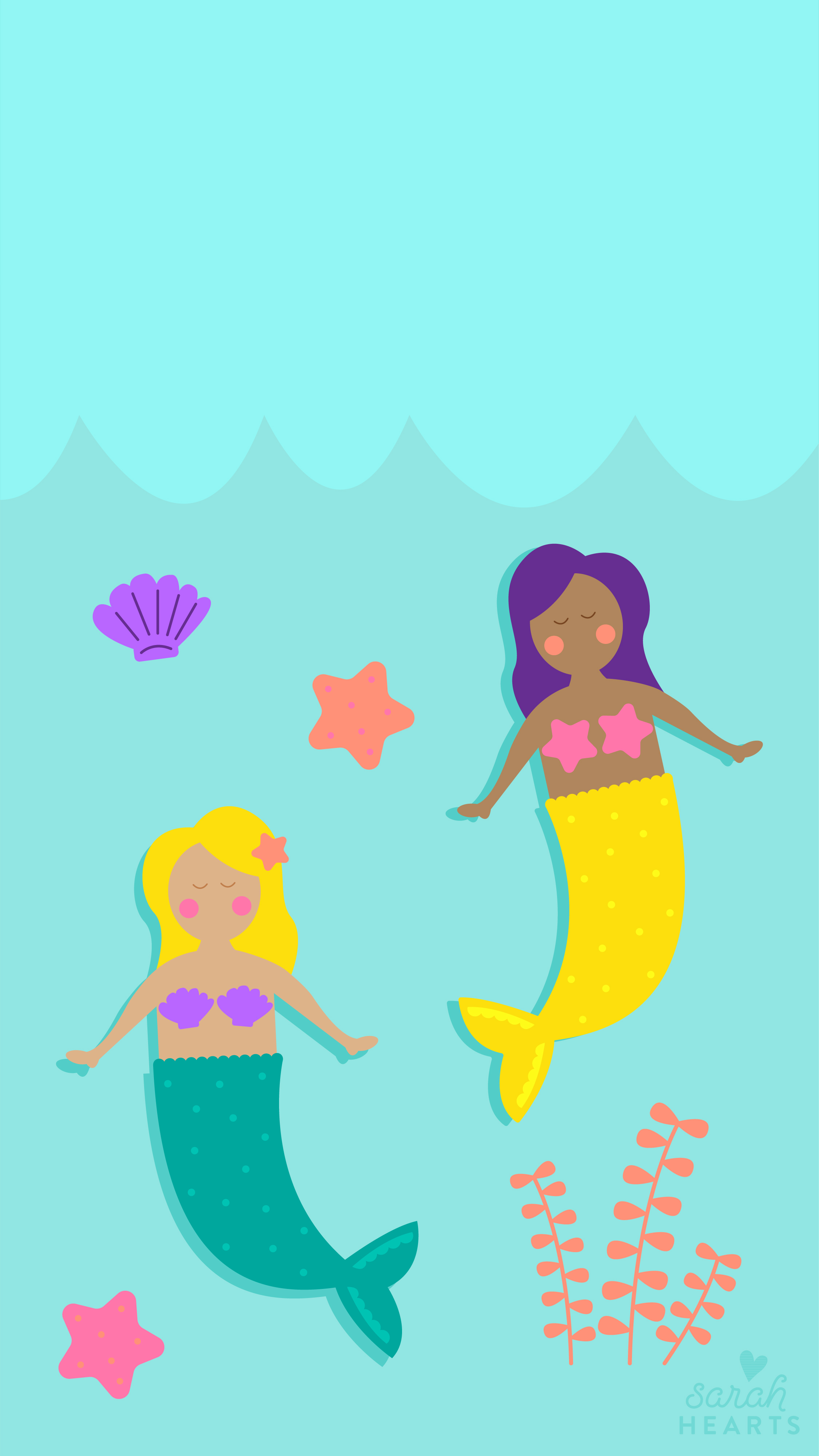 The Little Mermaid Quote Iphone Wallpaper July 2017 Mermaid Calendar Wallpaper Sarah Hearts