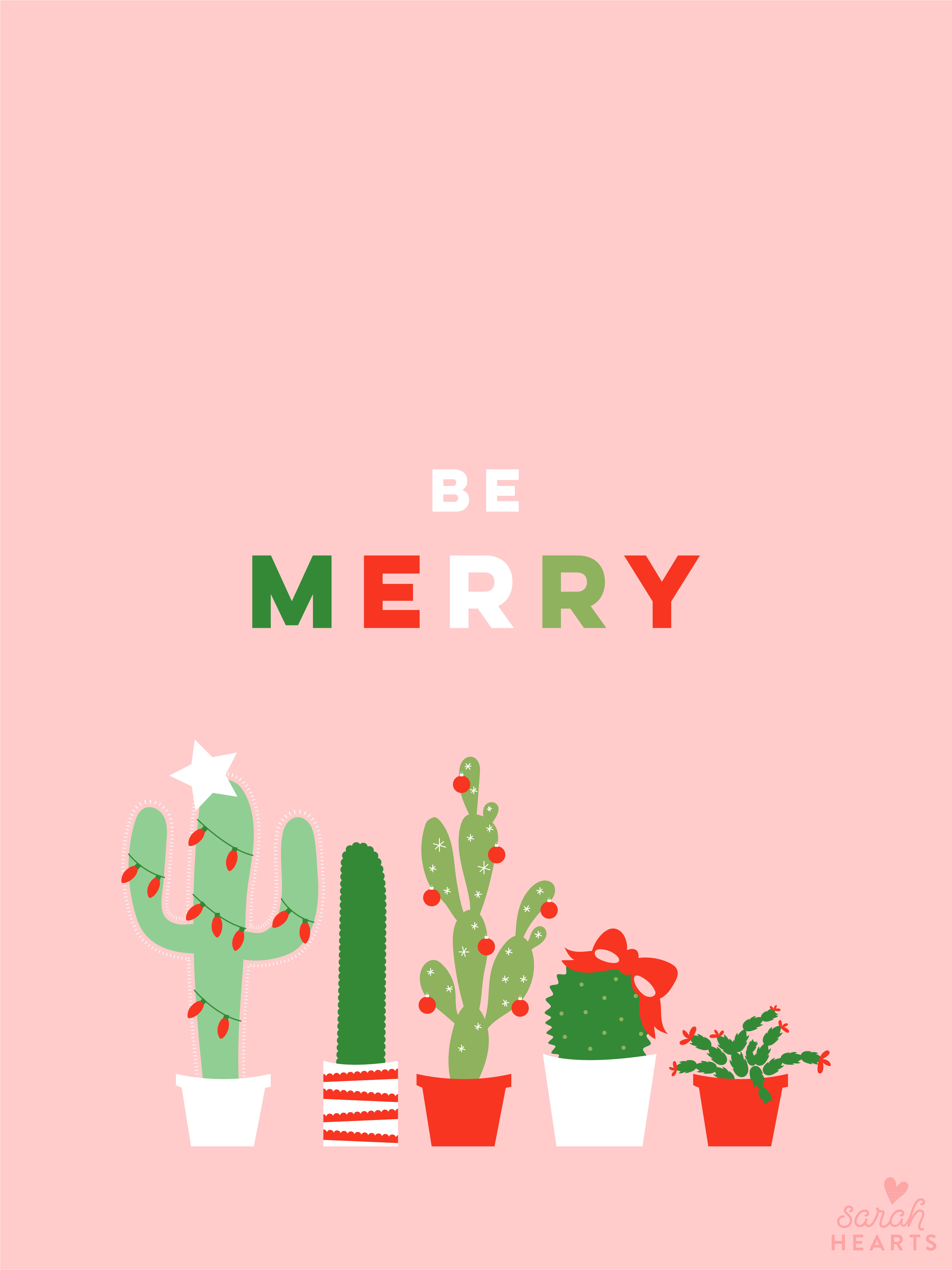 Cute Pineapple Iphone Wallpaper December 2017 Christmas Cactus Calendar Wallpaper Sarah