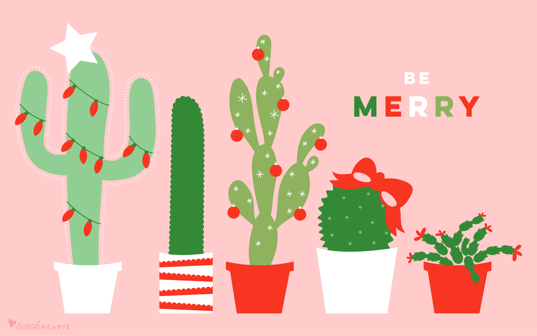 Cute Pumpkin Wallpaper December 2017 Christmas Cactus Calendar Wallpaper Sarah