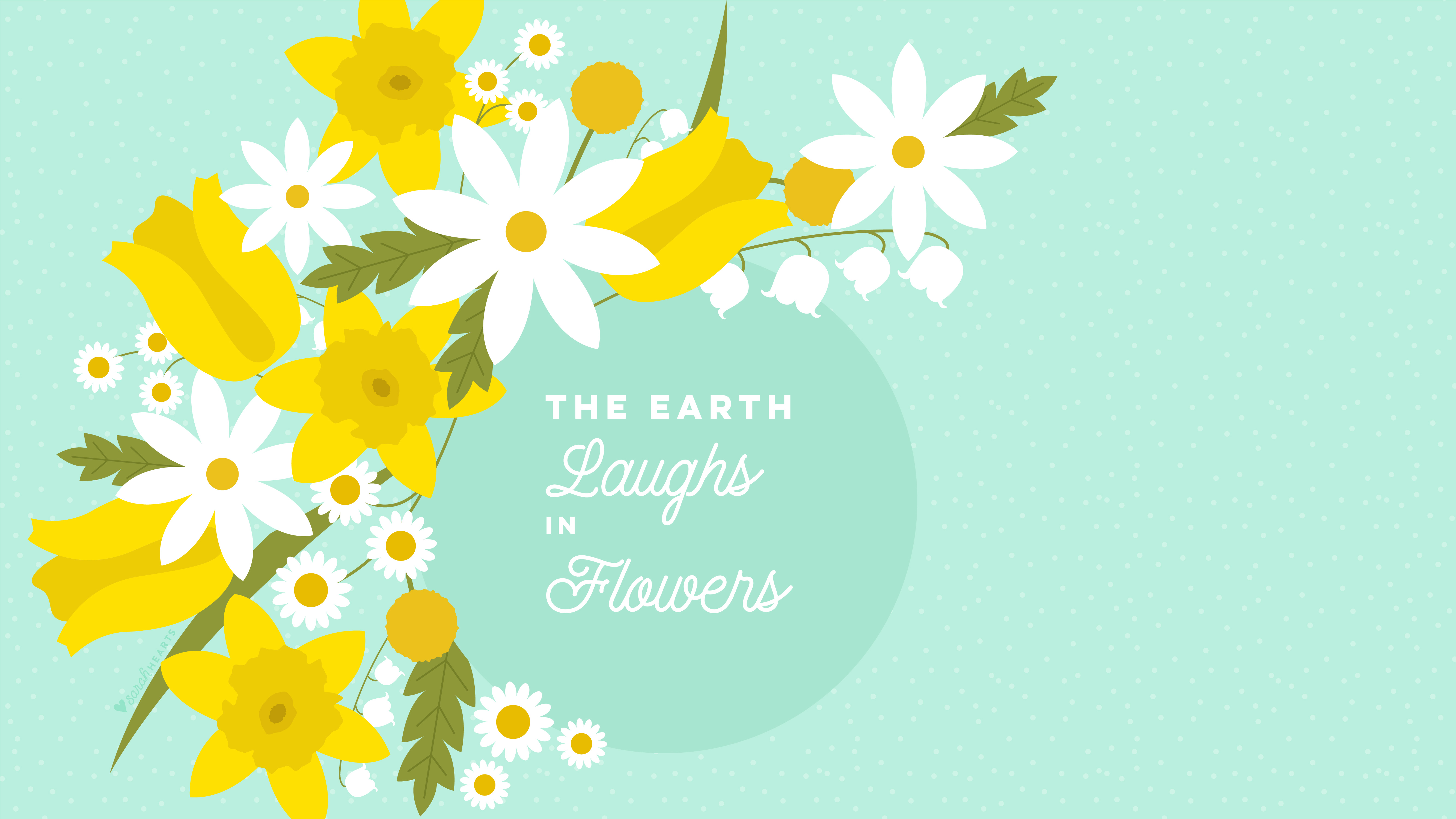 Sunflower Wallpaper With Quote March 2018 Spring Flower Calendar Wallpaper Sarah Hearts