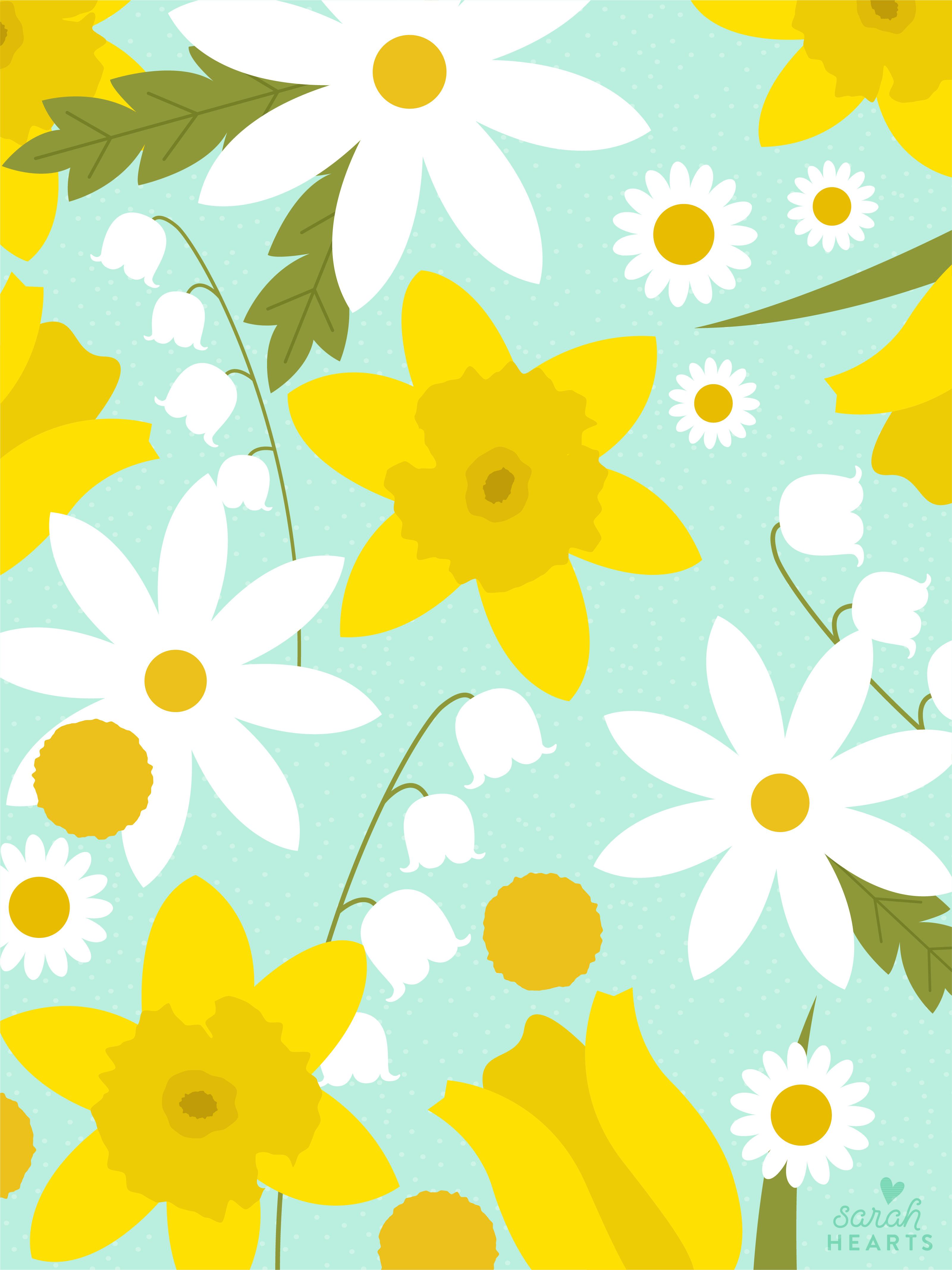 Lilly Iphone Wallpaper March 2018 Spring Flower Calendar Wallpaper Sarah Hearts