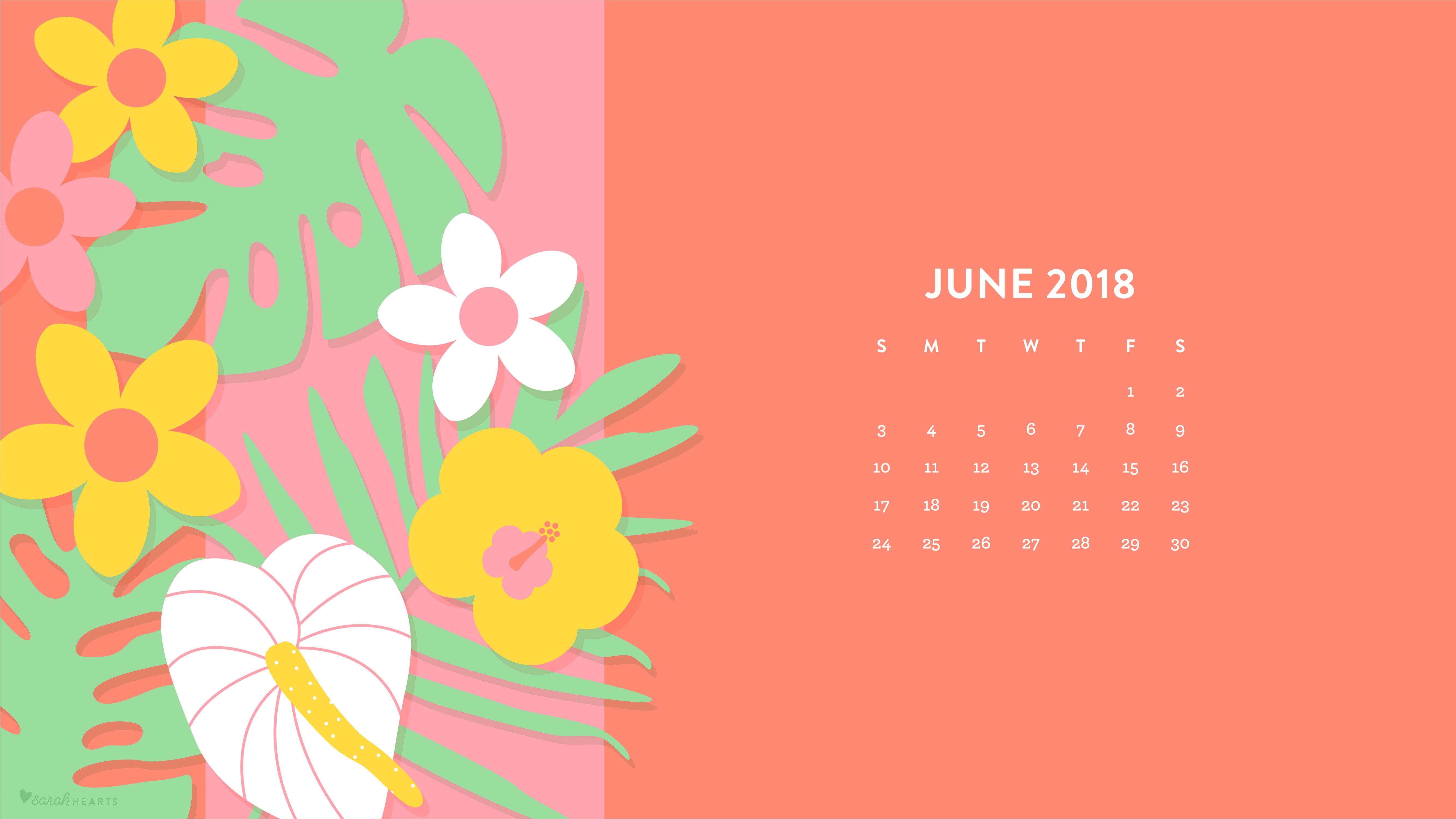 Watercolor Wallpaper Backgrounds Quote June 2018 Tropical Flowers Wallpaper Sarah Hearts