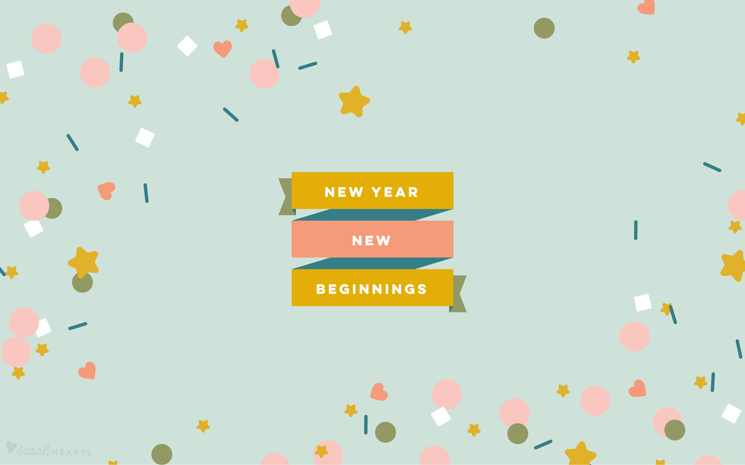 Desktop Wallpaper Quotes Pinterest January 2019 Confetti Calendar Wallpaper Sarah Hearts