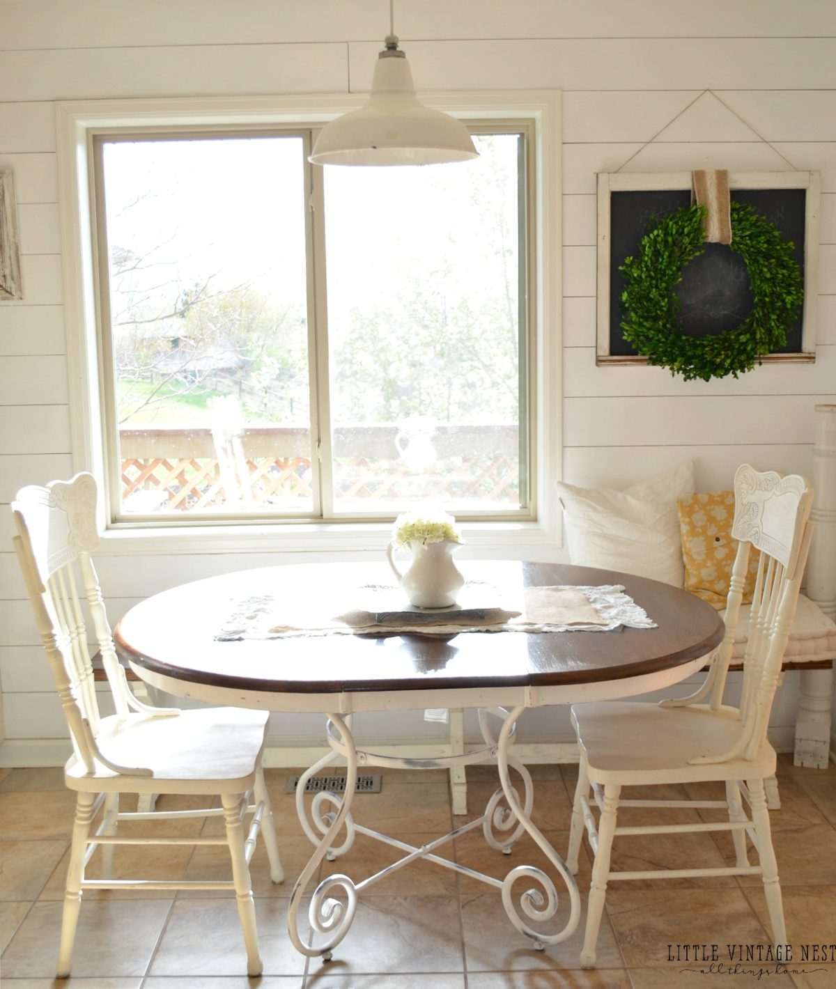 Breakfast Room Tables Diy Projects Chalk Paint Dining Table Makeover Sarah Joy Blog