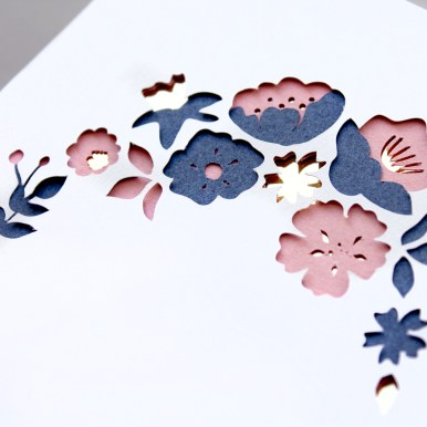Paper cut Layered Flowers