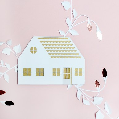 Papercut House New Home Card
