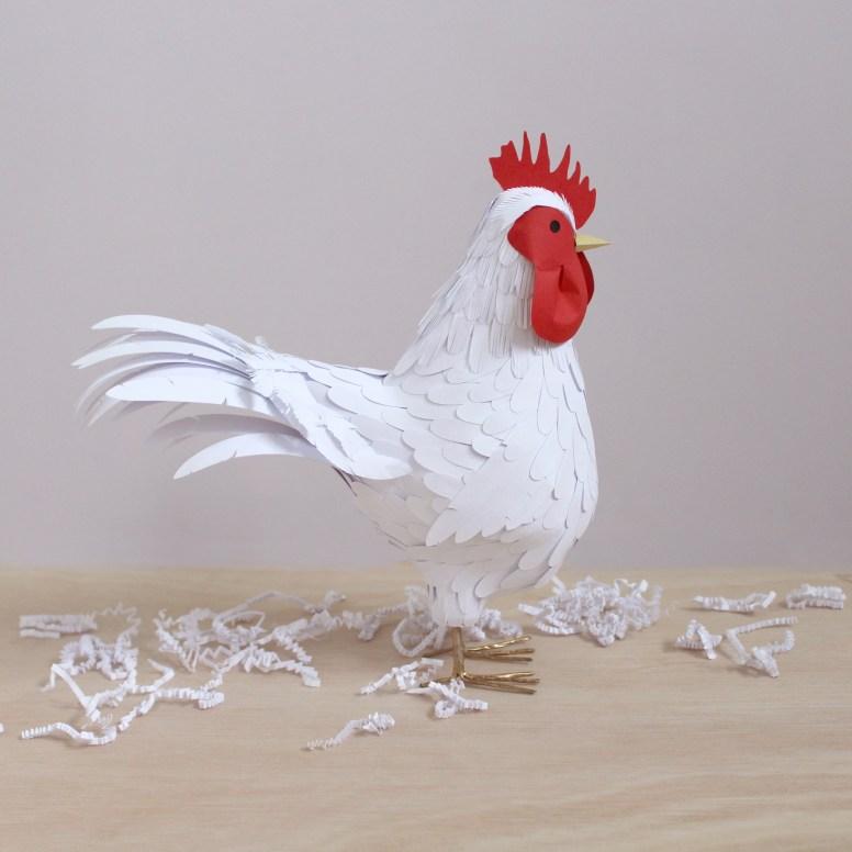 Sarah Louise Matthews 3D Paper Engineering Rooster Bird