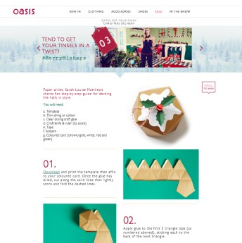 Oasis Christmas DIY Paper Christmas Pudding Decoration Project