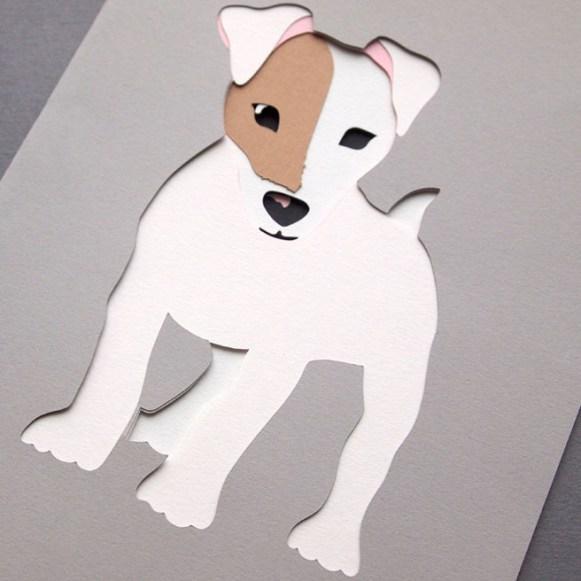 'Stanley' Jack Russell Dog Bespoke Pet Portrait Papercut