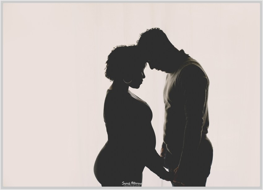 silhouette of mom and dad