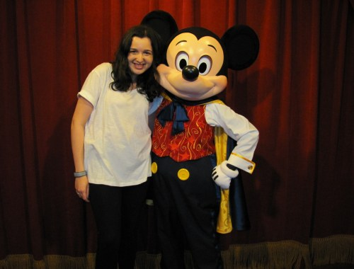 Sarah Prince and Mickey Mouse